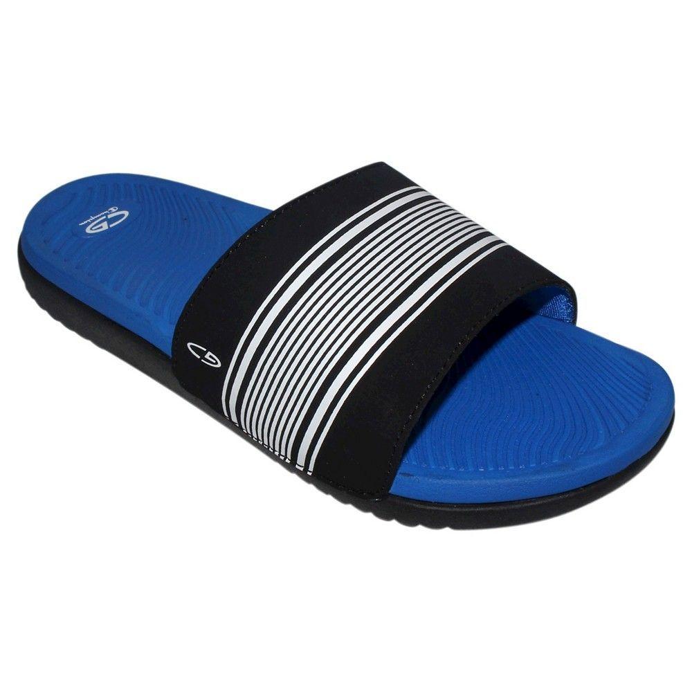 a42c2f3541f15 Boys  Patch Slide Sandals Blue XL - C9 Champion