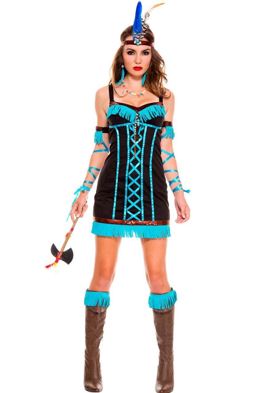 Sexy Music Legs Black Turquoise Blue Brown Pocahontas Indian Chief ...