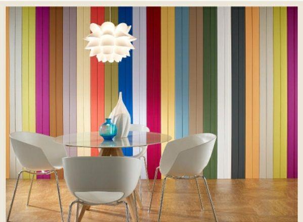 Beautiful Esstisch Sthle Acryl Wandfarben Bunt Streifen With Esstisch Sthle  Bunt