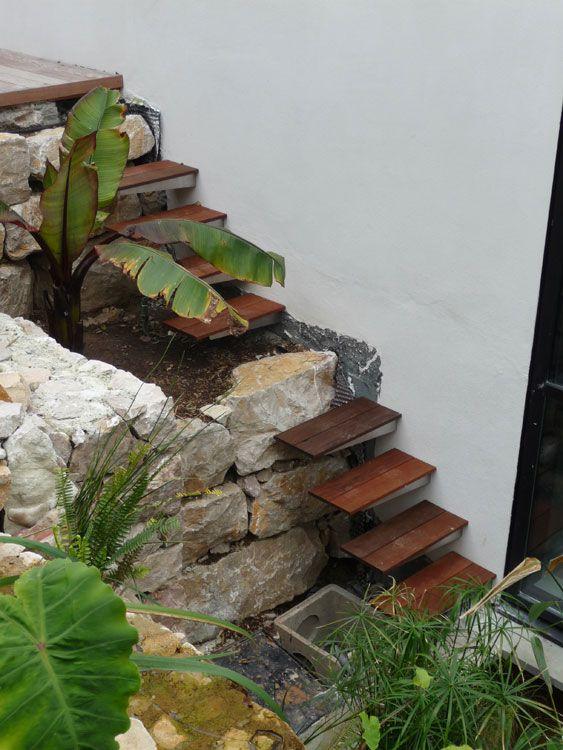 Escalier extérieur escalier Pinterest Escalier extérieur - Faire Une Terrasse En Beton Cire