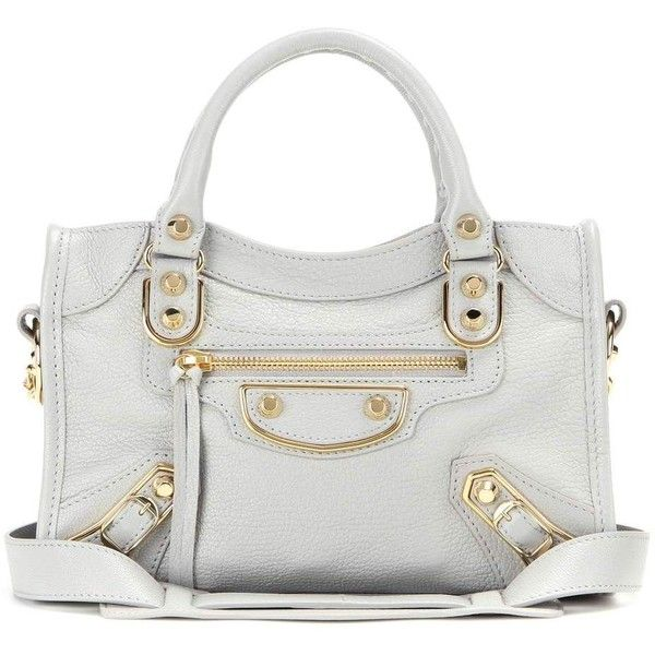 22308d23a0 Balenciaga Classic Metallic Edge City Leather Tote (€1.120) ❤ liked on  Polyvore featuring · Grey Tote BagsLeather ...