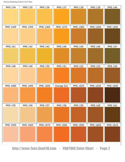 Pantone Color Chart Pms Screen Printing Pantone Color Chart Pms Color Chart Pantone Color