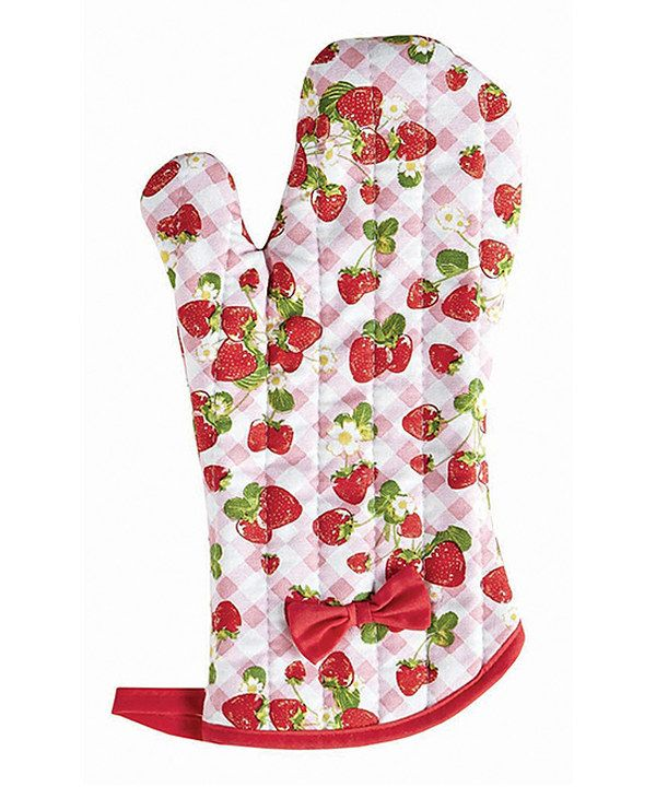 Look what I found on #zulily! Strawberry Gingham Oven Mitt by Jessie Steele #zulilyfinds