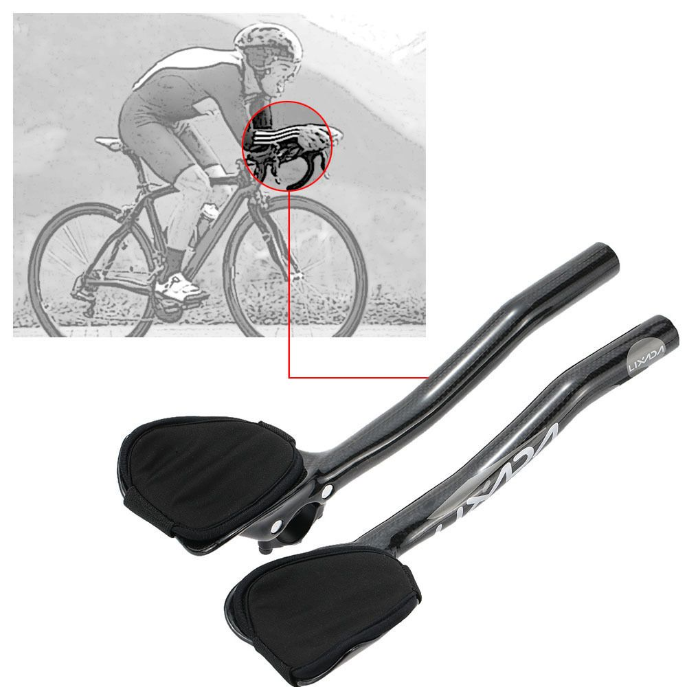 Ultralight Carbon Fiber Road Bike Aero Bar Rest Racing Handlebar Aerobar 31 8mm Unbranded Road Bicycle Bikes Bicycle Bike Bike