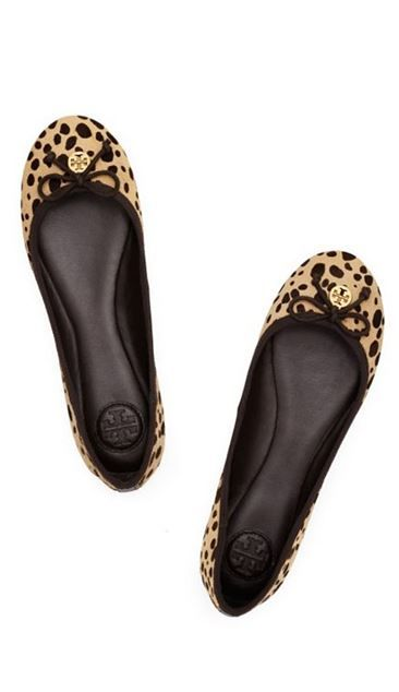 dc3195284b80 Super cute animal print flats. I m in love!  toryburch
