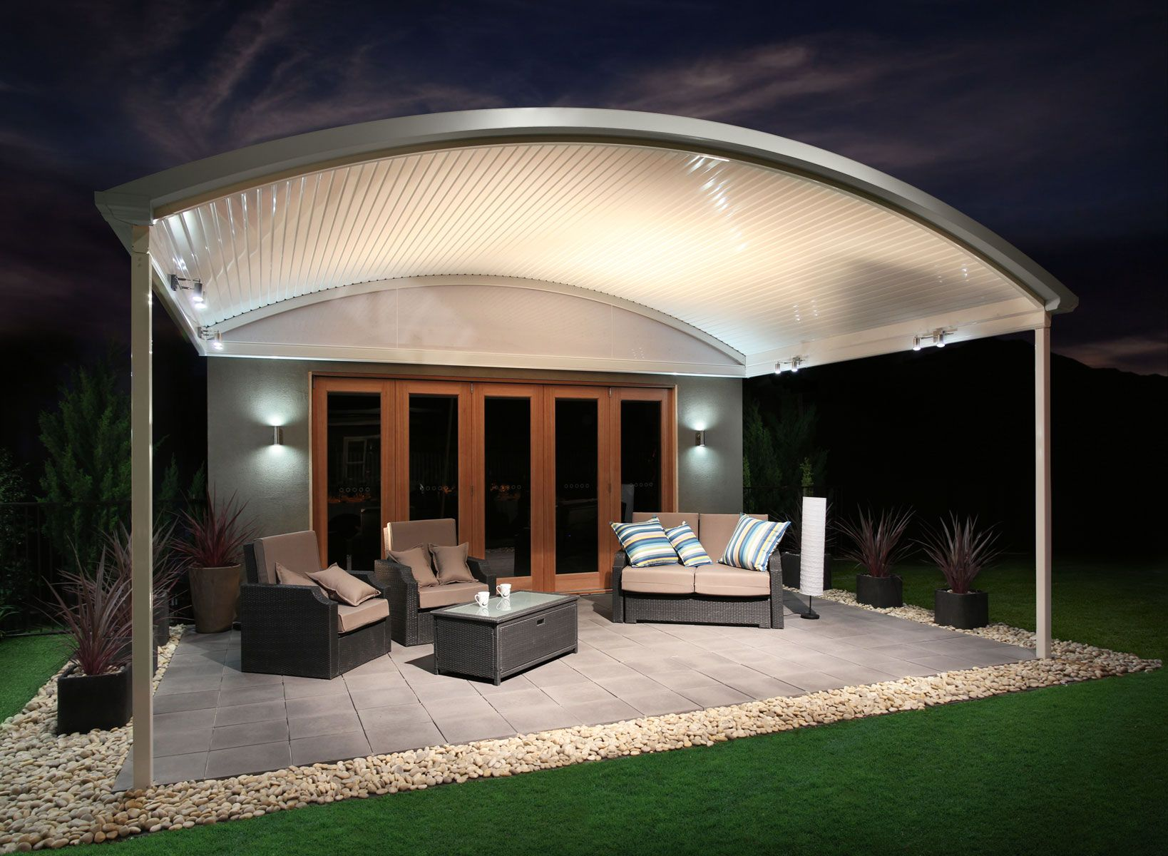 The Stratco Outback Curved Roof Patio Is A Unique Sleek