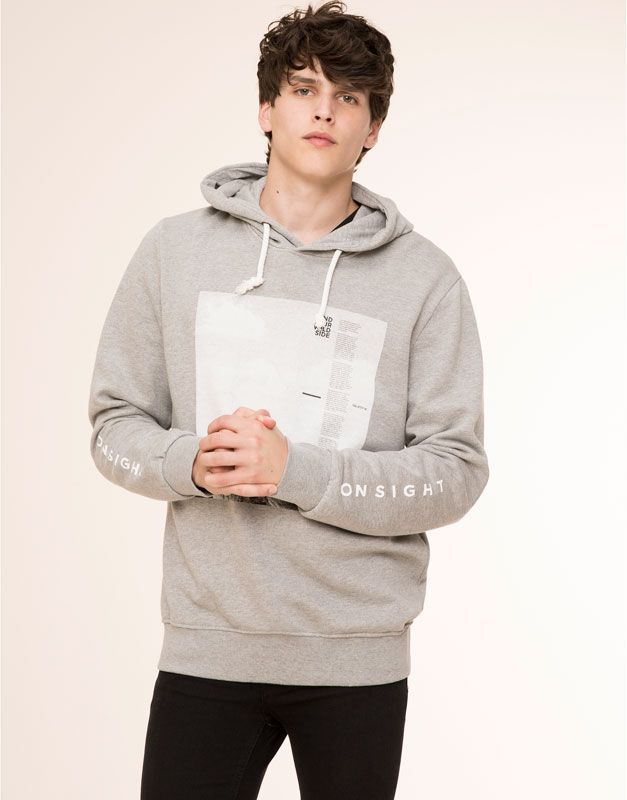 Sweatshirts Man Pull Bear United Kingdom Moda Hombre Estilo De Calle Chaquetas
