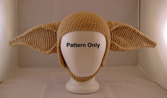 Pattern To Crochet Elf Ears On A Hat Fit An Adult Sized Head With 21