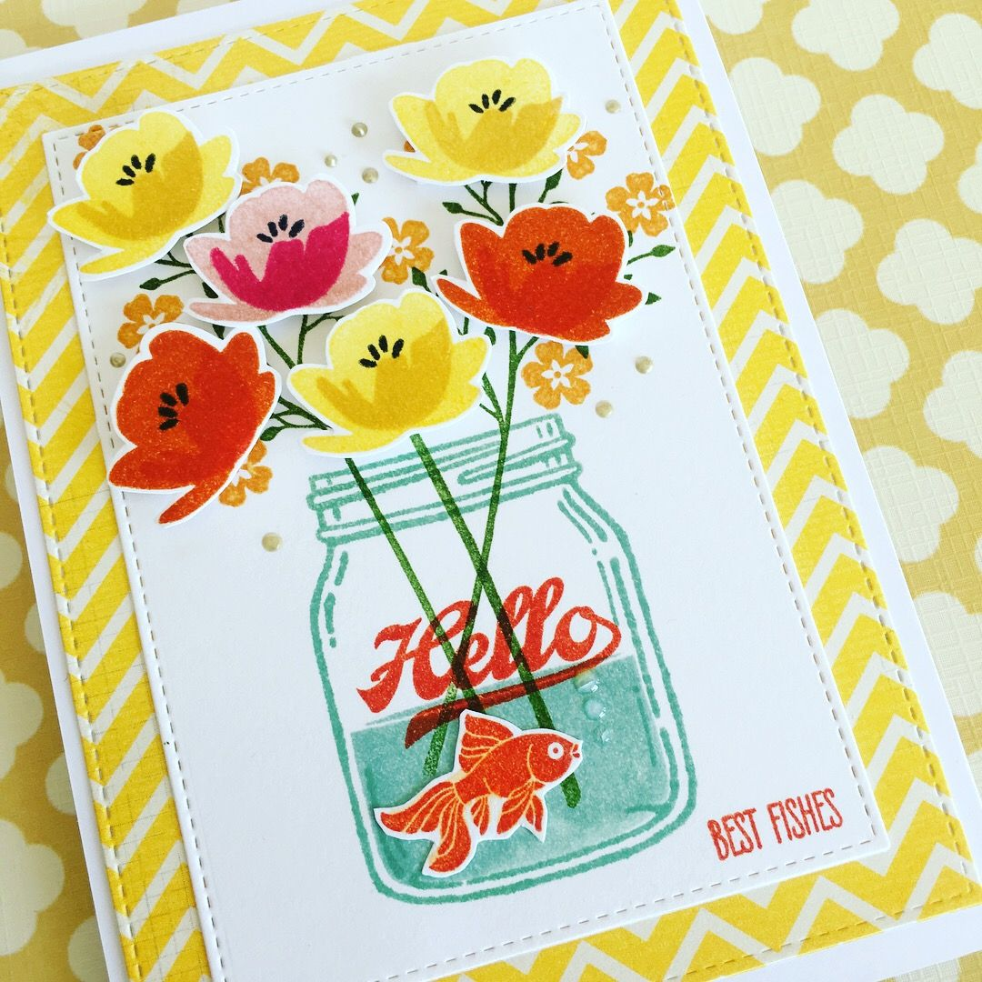 Card made using Stampin up Jar of love stamp set. Inspired by many cards on Pinterest.