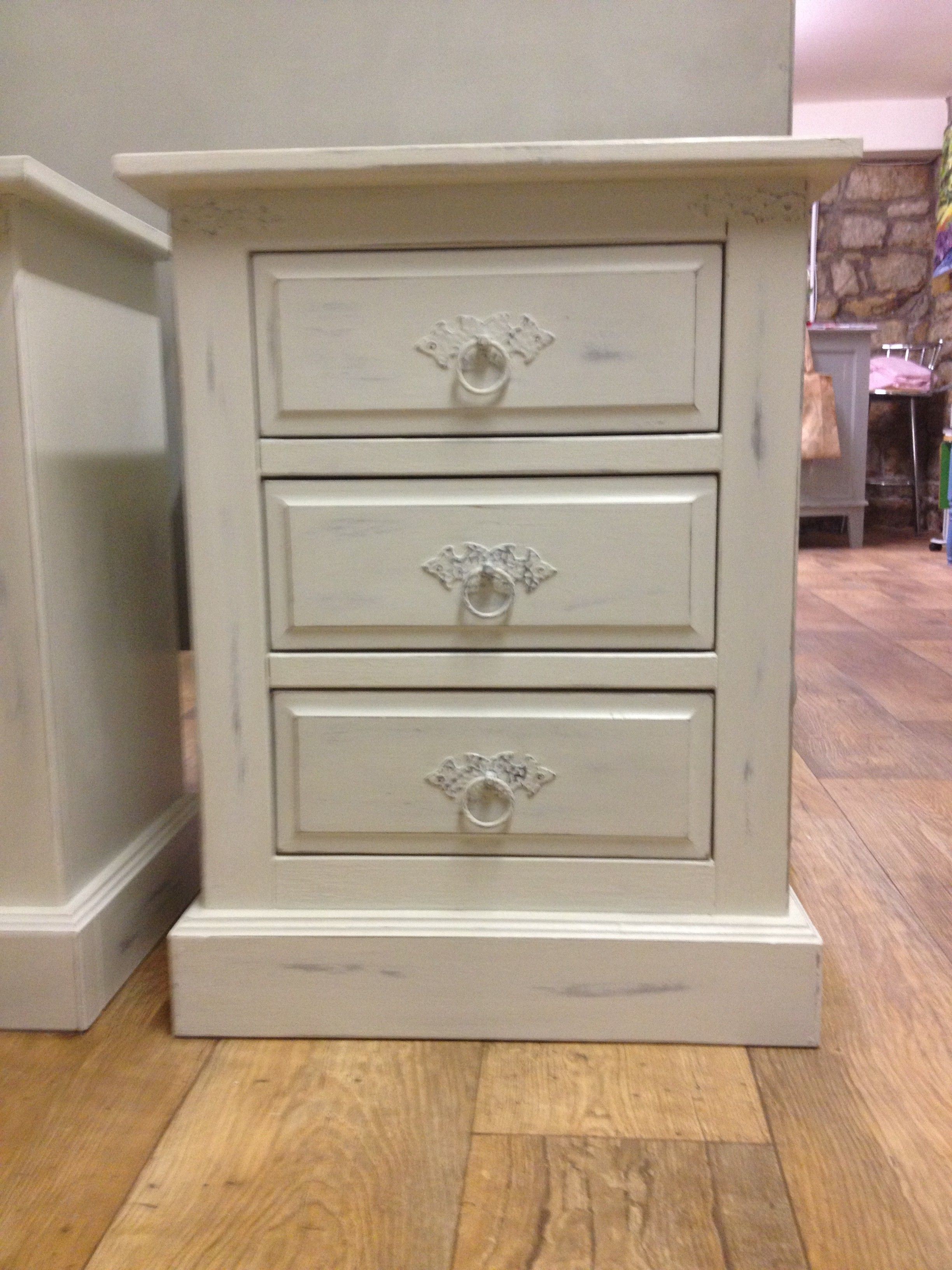 Best Bedside Cabinet Painted In Annie Sloan Paris Grey And Old 400 x 300