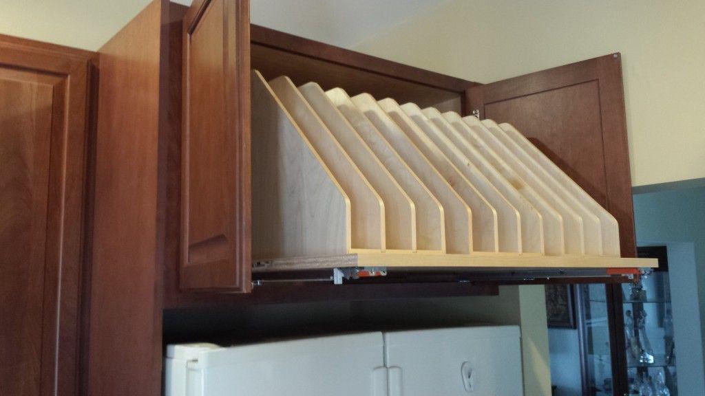 over fridge storage ideas   Custom Overhead Storage - Bel ...