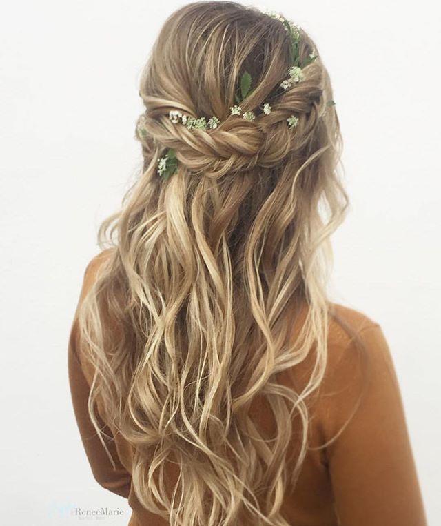 34 Boho Wedding Hairstyles to Inspire #bridalhairflowers