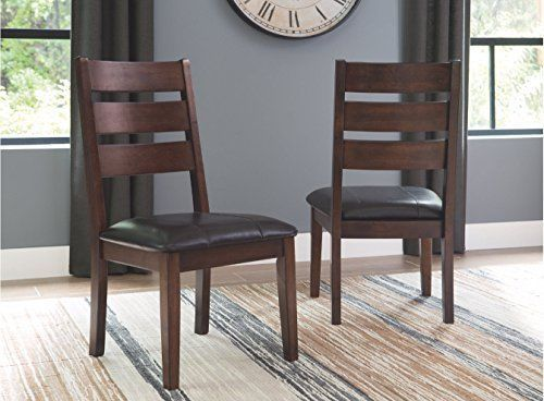 2 PCS Ashley Furniture Larchmont Dining Room Chair Wooden Kitchen Seat Moern New
