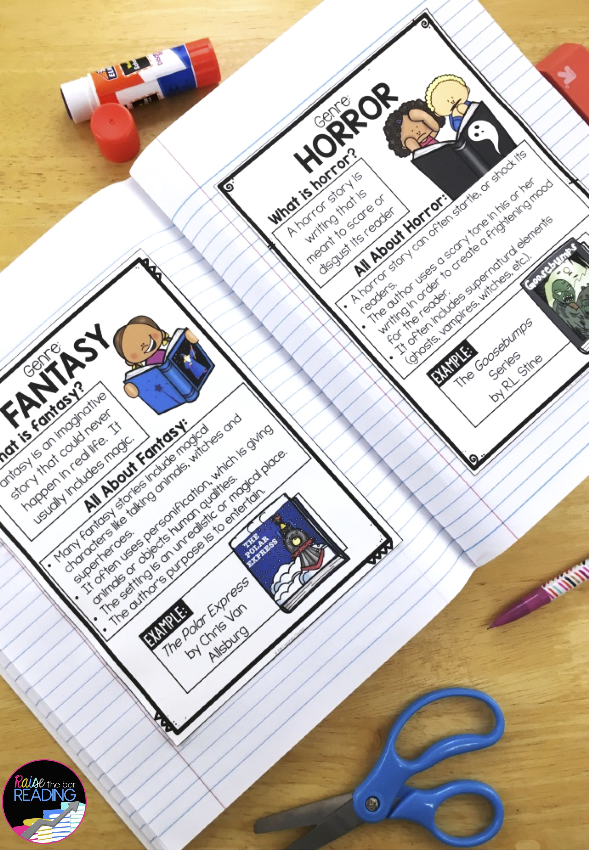 Reading Genre Posters Genre Anchor Charts Amp Reader S
