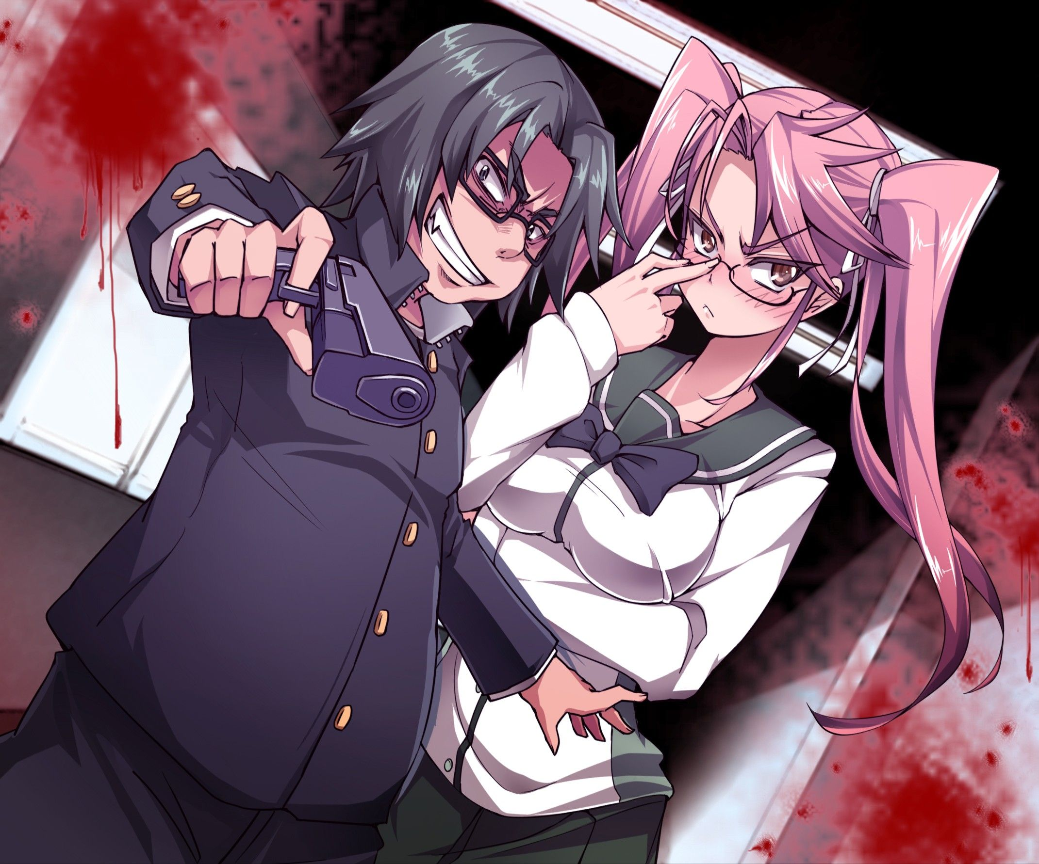 Anime Highschool Of The Dead Kota Hirano Saya Takagi Wallpaper