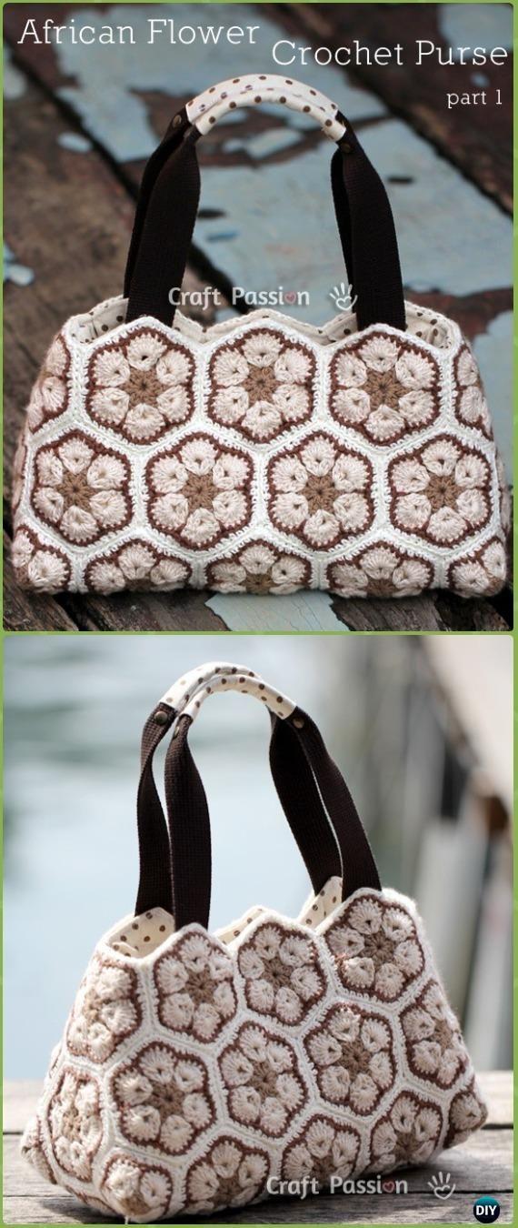 Crochet Handbag Free Patterns Instructions Crochet African