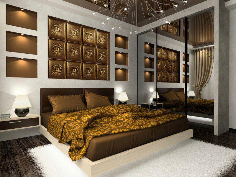 Couleur de chambre moderne u le marron apporte le confort