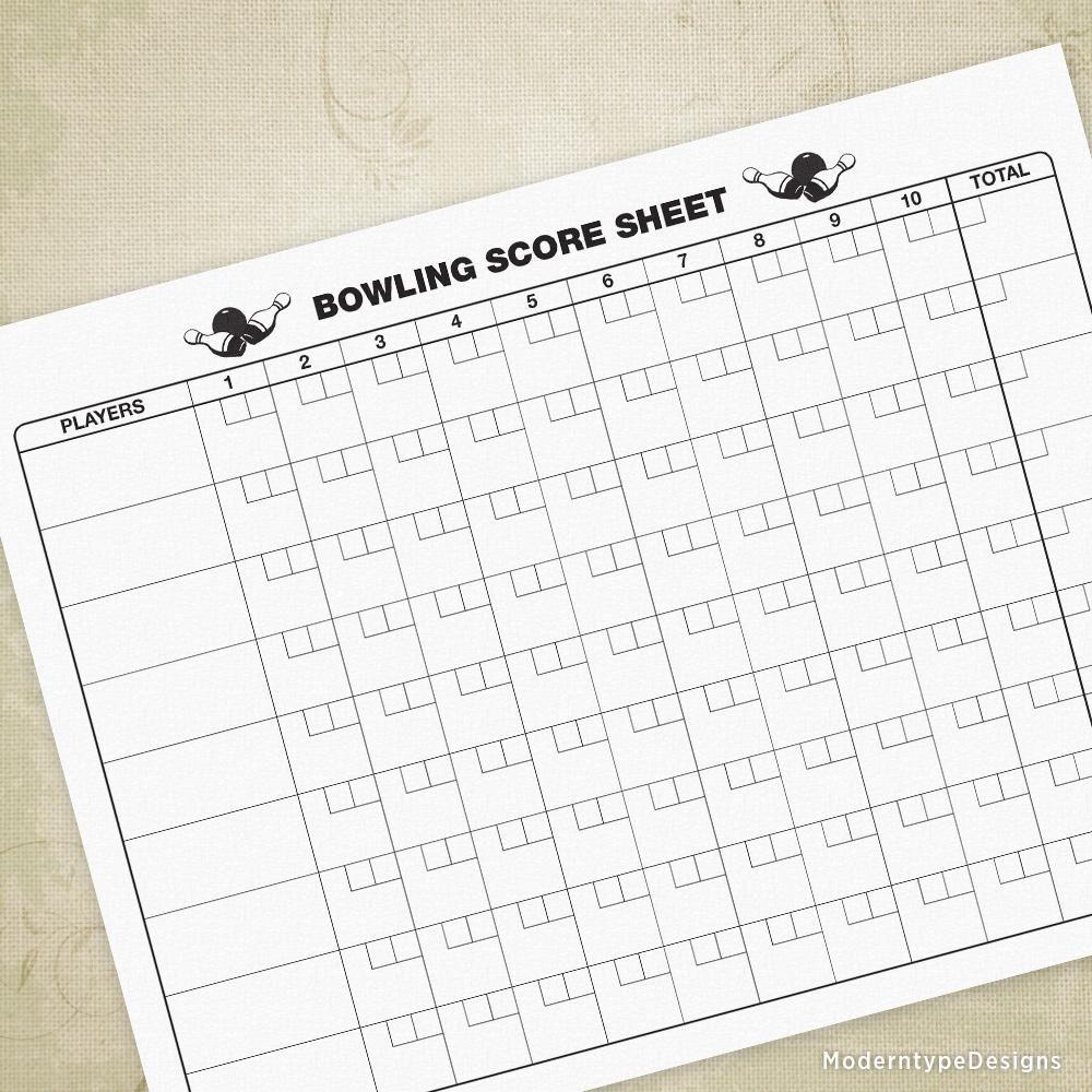 Bowling Scoring Sheet Printable Bowling, Printables, Scores