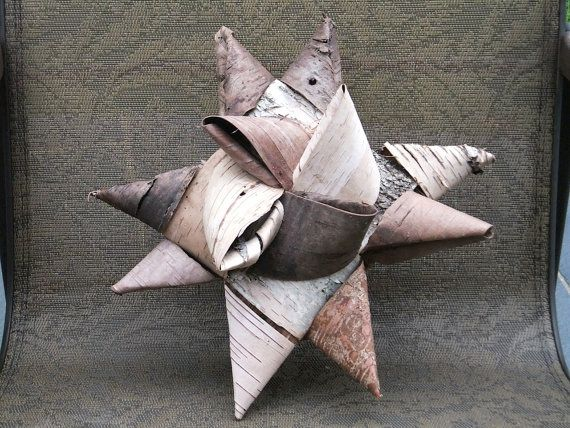 Birch bark star i have made these german ornaments otu of