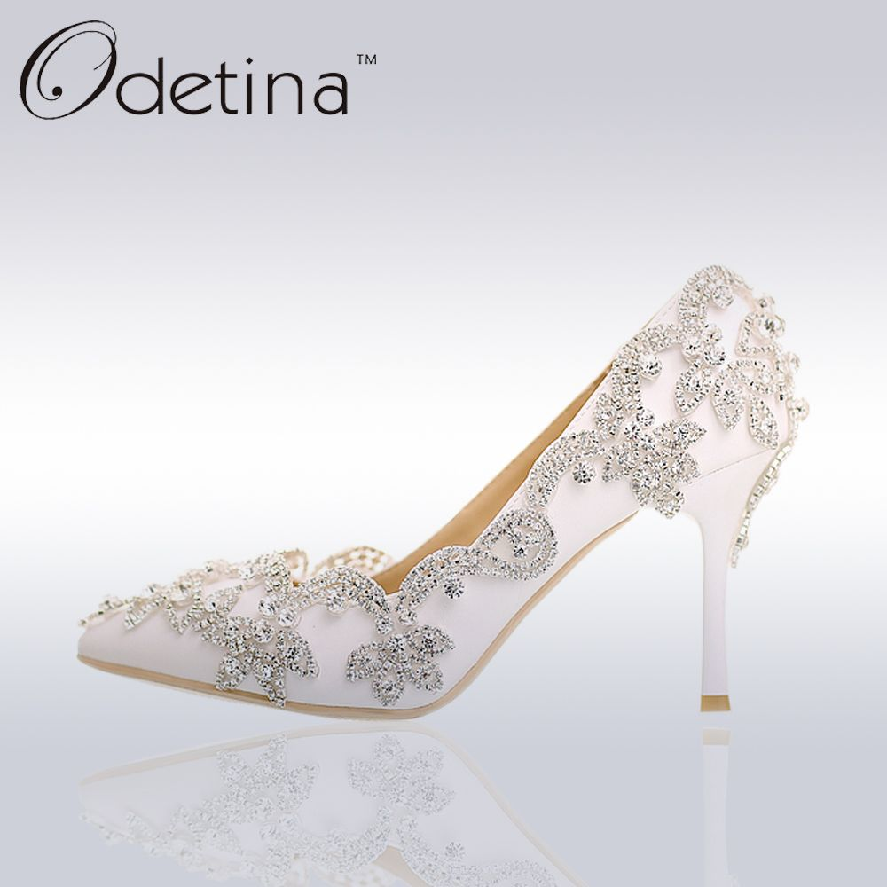 208bb208e0 Find More Women's Pumps Information about Odetina Luxury Rhinestone ...