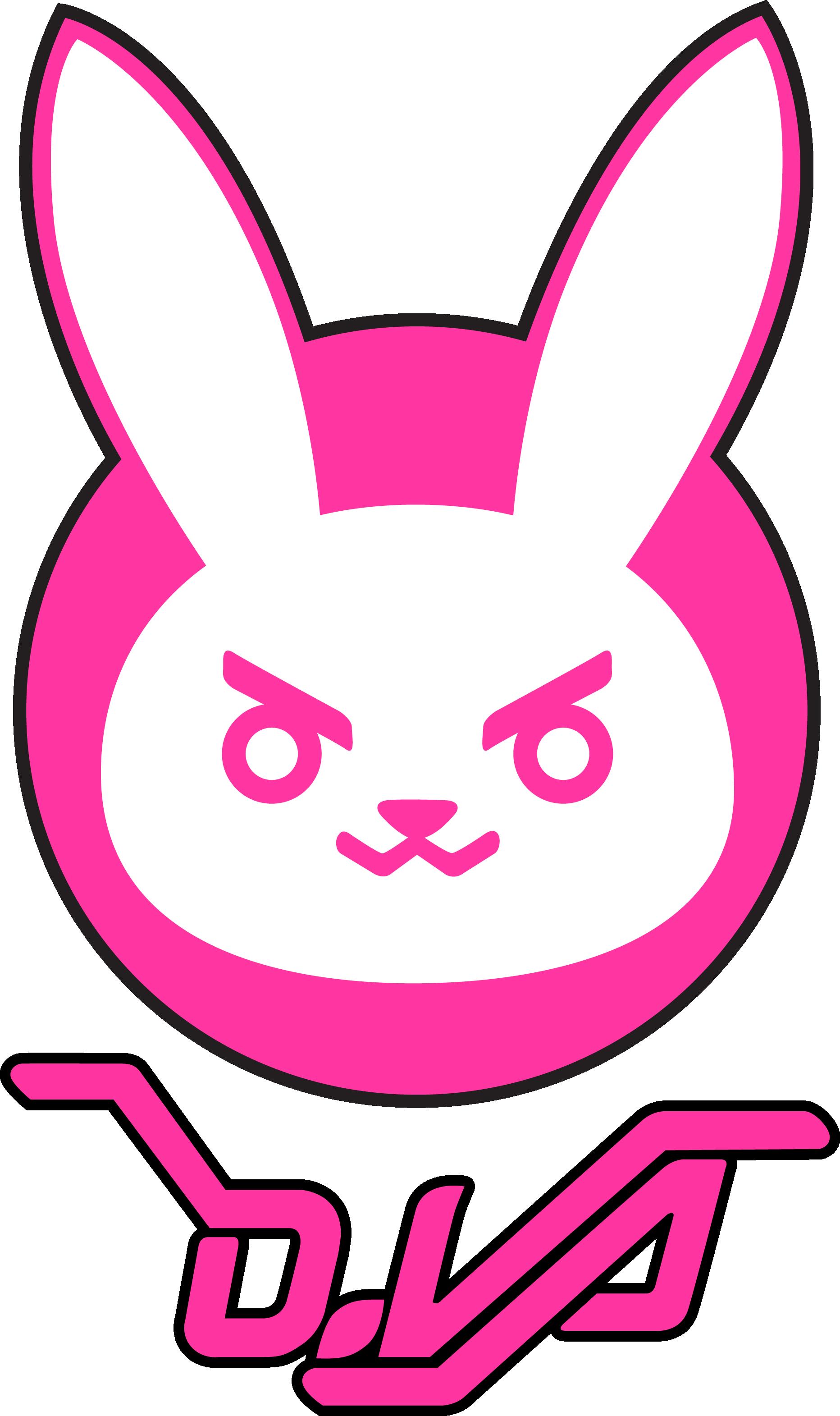 Dva Bunny Logo By Deeptriviality Da3x98r Png 1864 3141 Bunny Logo Overwatch Decor Logos