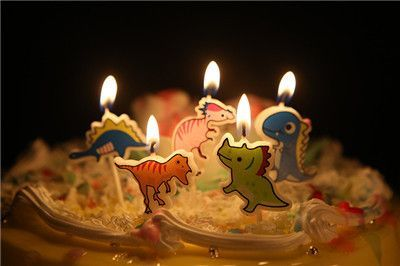 5 Pcs Set Cartoon Kids Birthday Cake Cupcake Toppers Candle Candles Party Supplies Wedding Home Decorations B