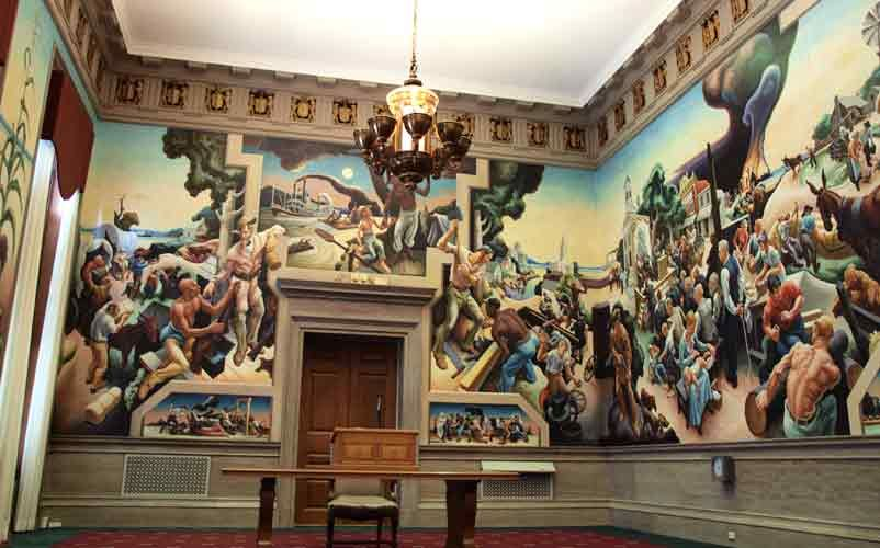 Thomas Hart Benton mural at the Missouri State Capitol I first