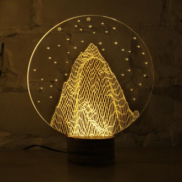 Optical Illusion 2d Lamp Looks Incredibly 3d Magical Lamp Lamp Design Lamp