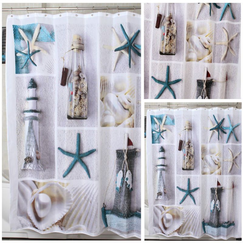 Vibrant Mosaic Blue Shower Curtain On A White Background Including ...