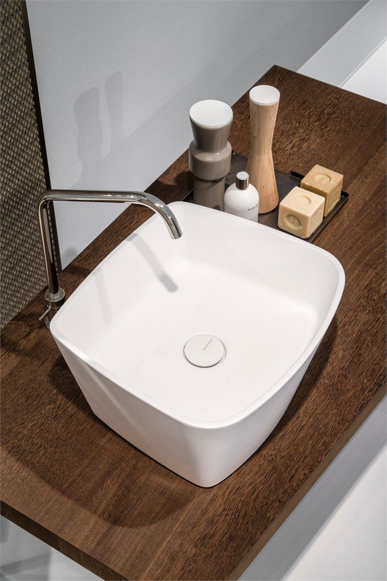 Design Countertop Free Standing Makril Washbasin Loop Lavabi