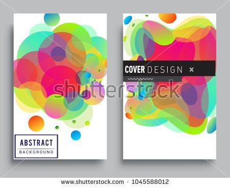 Covers templates set with abstract colorful background design style graphic geometric elements applicable also rh pinterest