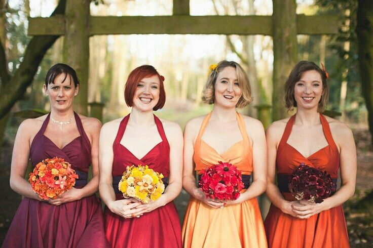 Fall Ombre Wedding Fall Bridesmaid Dresses Fall Bridesmaids Wedding Bridesmaid Dresses