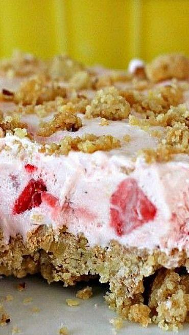 Fluffy Frozen Strawberry Dessert