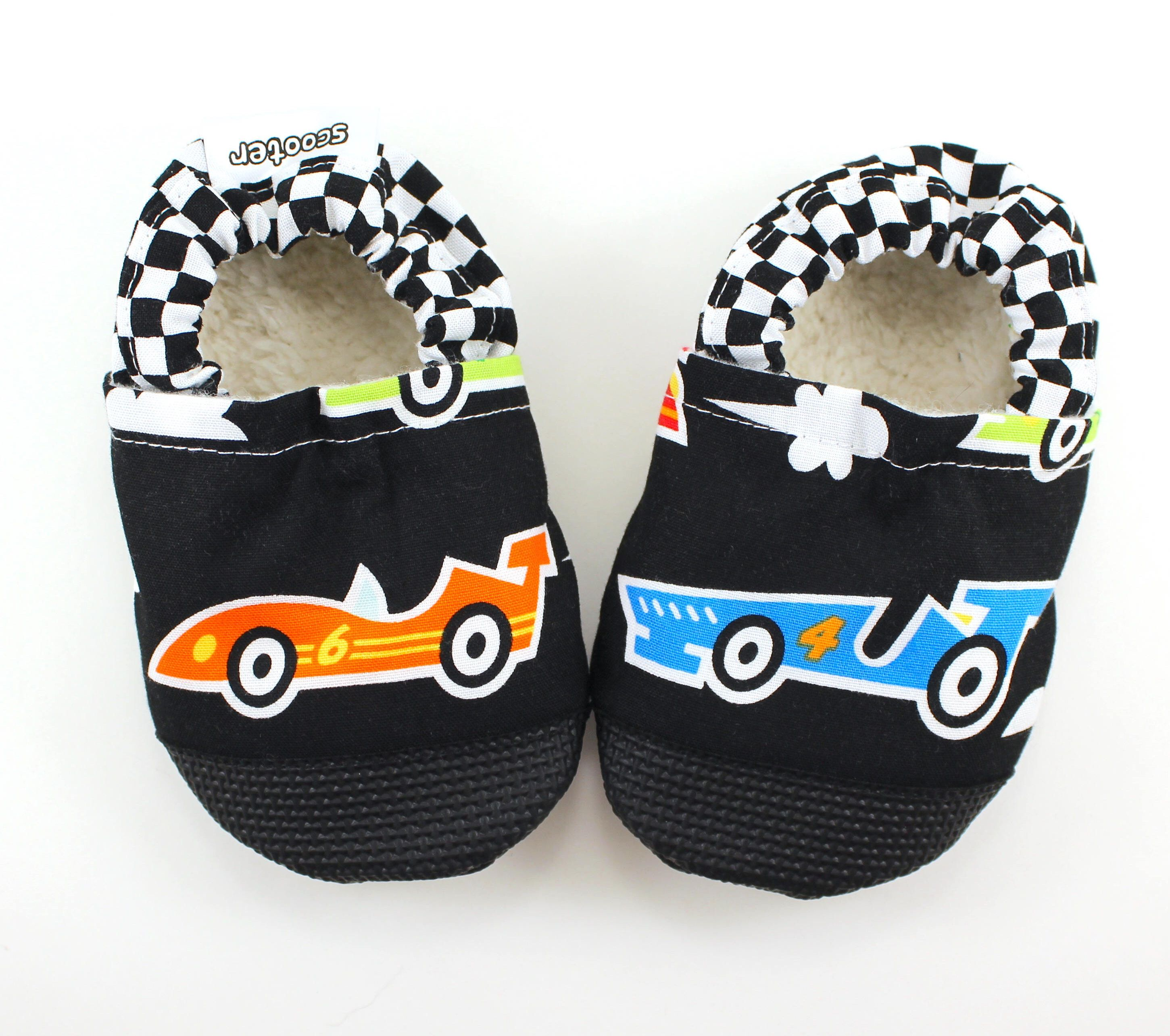 race car baby shoes race car booties black shoes for baby boy car