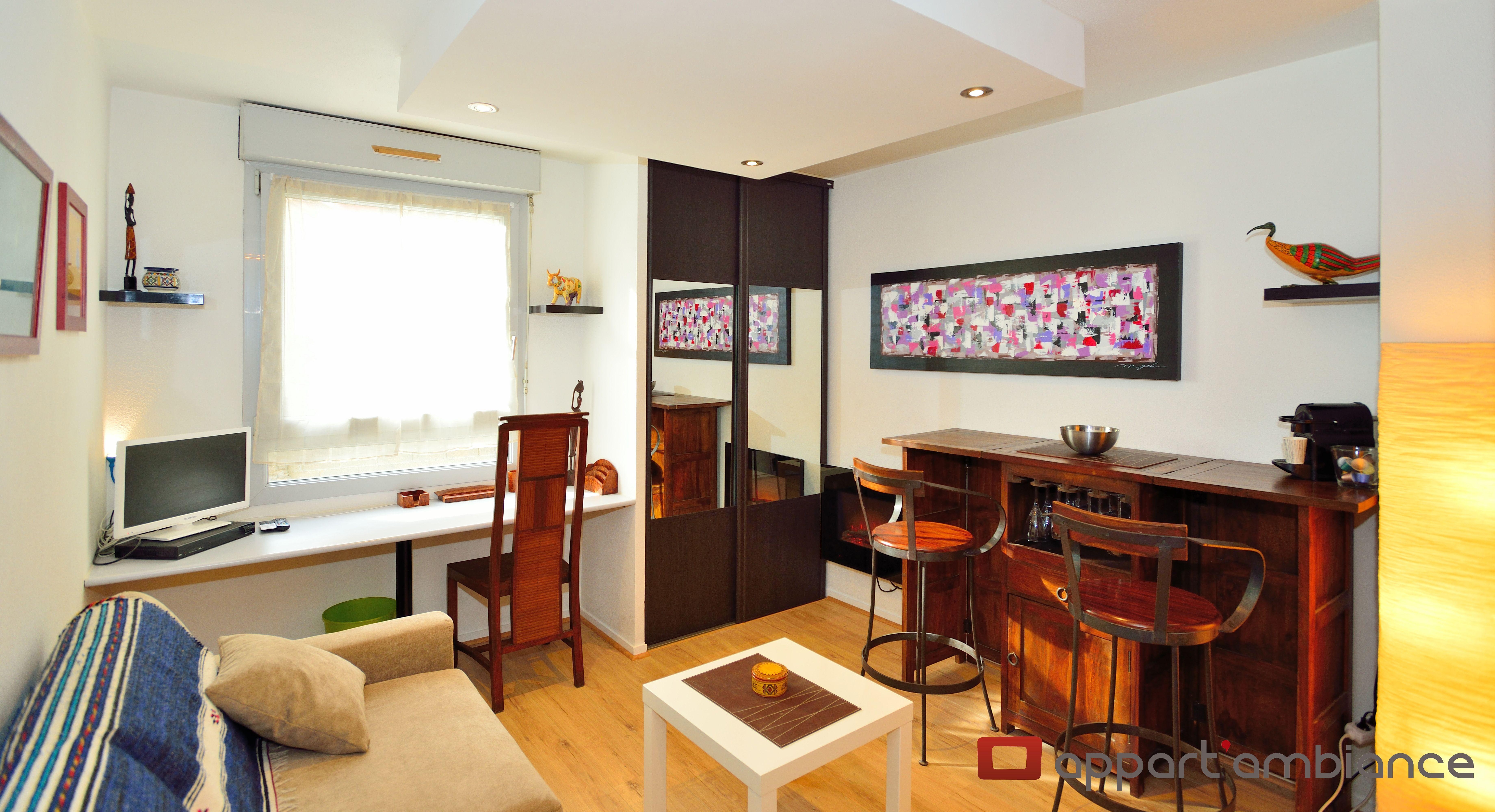 Vous Recherchez Un Appartement Courte Duree Dans Le 7e Arrondissement De Lyon Ce Studio De 20m Est Fait Pou Appartement Meuble Mobilier De Salon Appartement