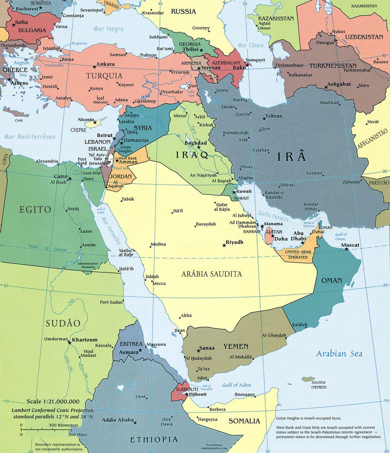 Mapa do Oriente Mdio  Mapas 3  Pinterest  Israel and Paths