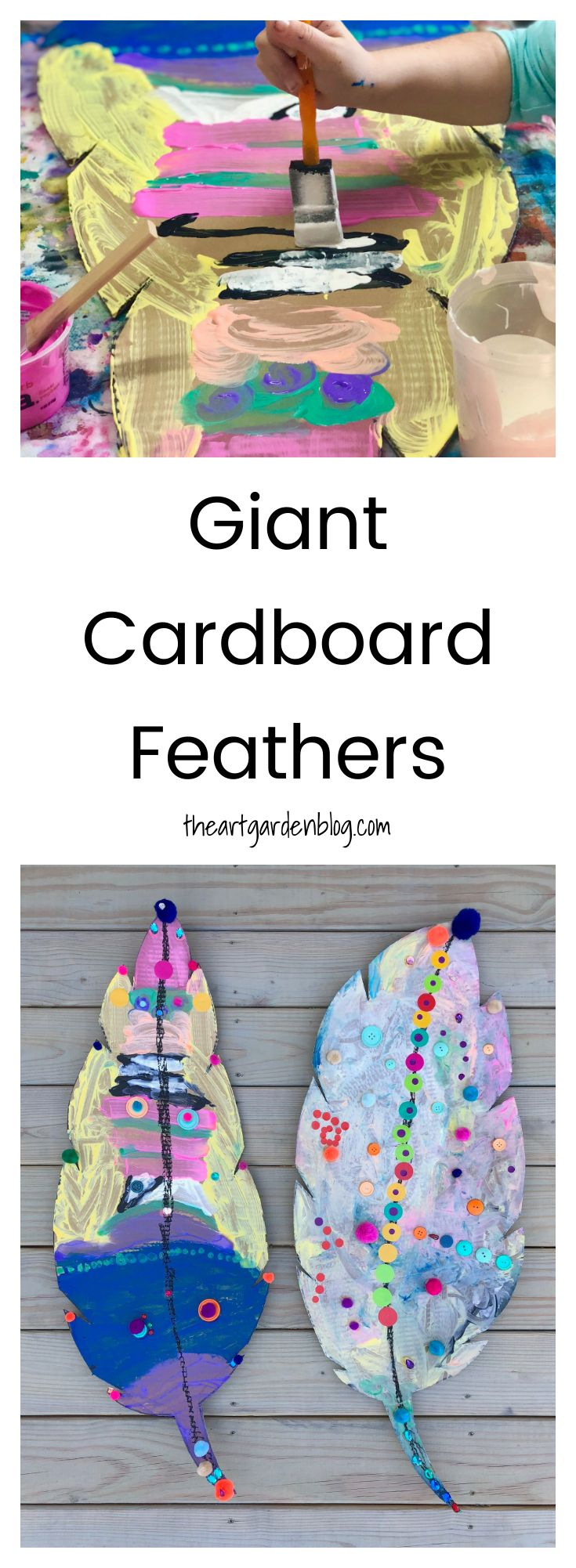 Giant Cardboard Feathers