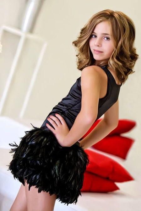 Elisa B by Lipstik Girls Tweens Black Swan Song Feather Accent ...