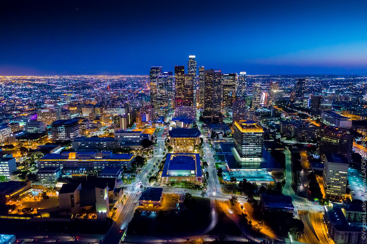 Brilliant Nighttime Photos Of Los Angeles Shot From A Helicopter City Shoot Aerial Photo Breathtaking Photography