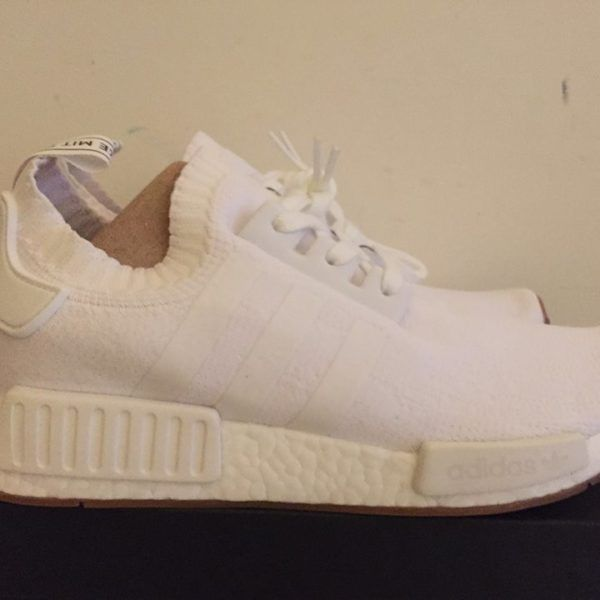 677958d83f649 Men s Adidas NMD R1 PK White Gum Pack BY1888 New