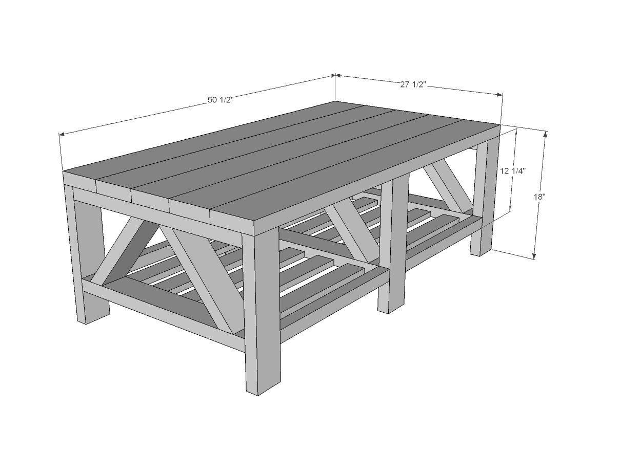 Coffee Table Dimensions Diy