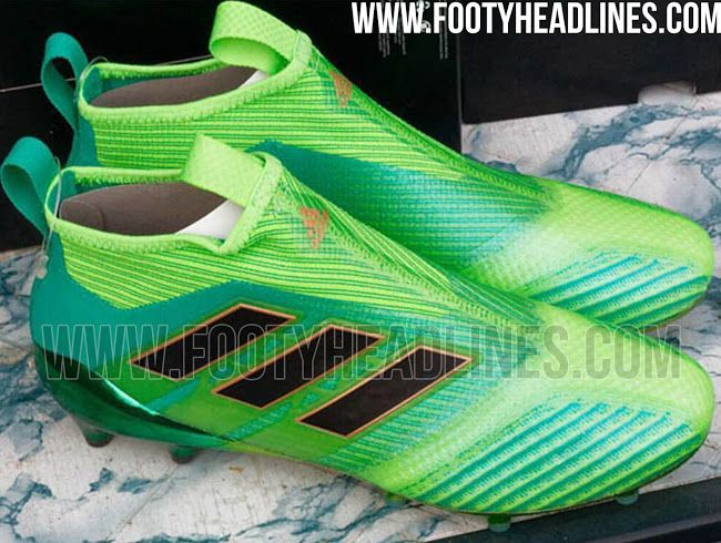 online retailer f92e0 37c31 The Green, Black and Gold Adidas Ace 17+ Master Control boots introduce an  outstanding design with Boost technology.