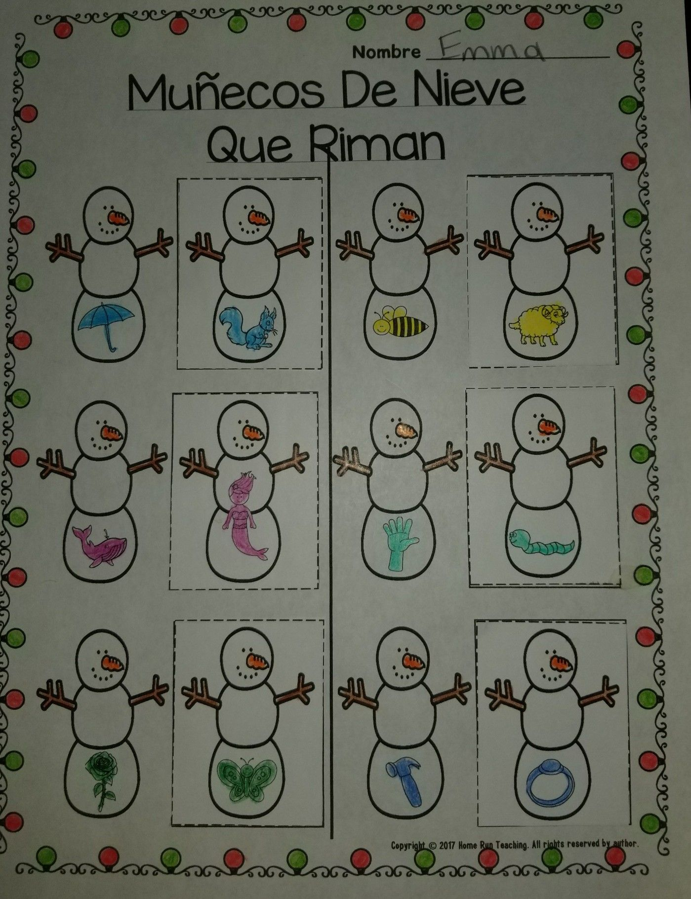 Diciembre December Math Literacy And Craft Packet In
