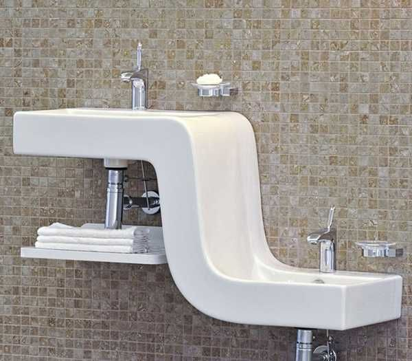 Kids friendly bathroom sinks family basin blending style for Lavamanos para ninos