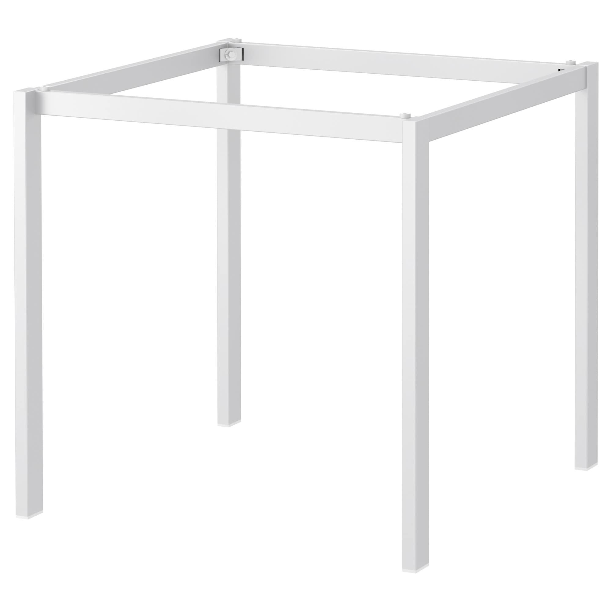 "Underframe, white, 5 5/5x5 5/5 ""  Dining table in kitchen, Ikea"
