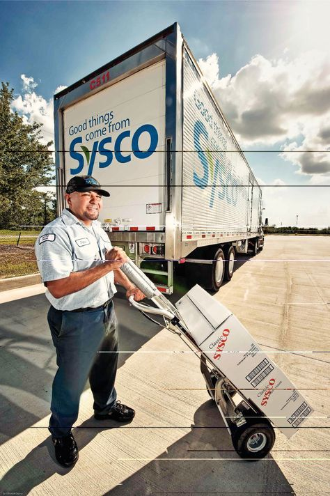Sysco Foods food service route delivery driver supplying