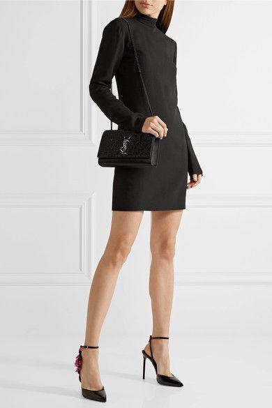 8738e545b74 SAINT LAURENT elegant Monogramme Kate medium sequined satin shoulder bag  Ysl Kate Bag, Medium Bags