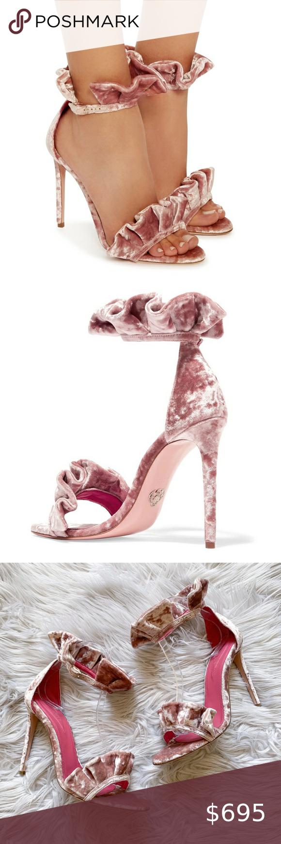 NEW Oscar Tiye Antoinette Crushed Velvet Heels 9 N