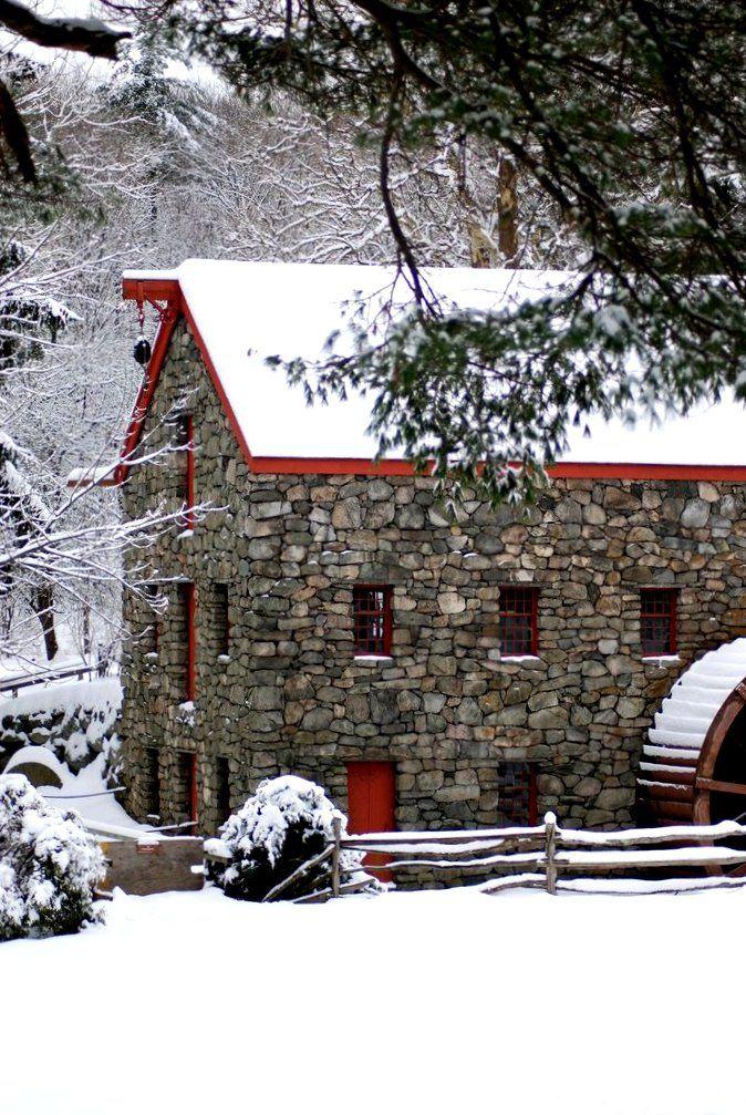 Grist Mill, Sudbury, MA   Wind- und Wassermühlen   Pinterest ...
