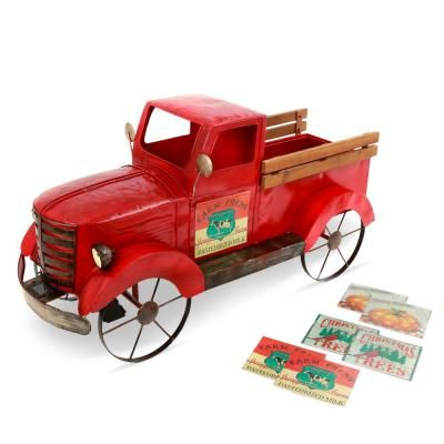 Gerson Solar Lighted 2 Qt Red Antique Truck Ice Chest N A